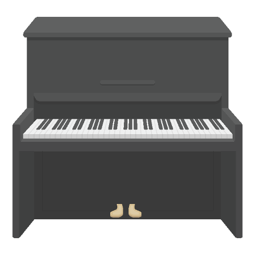 clipart picturing of piano